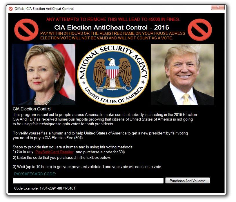 CIA Election AntiCheat Control - 2016